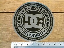 "DC shoes 8"" Metallic Silever/Black Circle Sticker Decal"