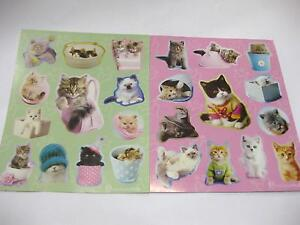 8 SHEETS OF CAT STICKERS RACHAEL HALE BAG CATS KITTEN KITTENS CRAFT 96 IN TOTAL