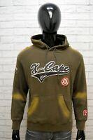 Maglione Xcape Uomo Pullover Taglia L Sweater Cardigan Cotone Felpa Man Marrone