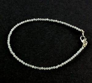 Rainbow Moonstone Bracelet Gemstone Bangle Fine Faceted Ball Noble 19 CM