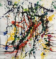 "LARGE FORMAT PAINTING MODERN ART ABSTRACT EXPRESSIONISM  74"" X 72"" STILGENBAUER"
