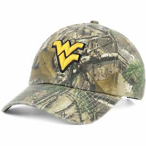 West Virginia Mountaineers '47 Clean Up Realtree Camo Adjustable Cap Hat $28