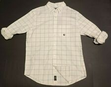 NWT New Abercrombie & Fitch Men's Oxford Shirt In White Check Size Small