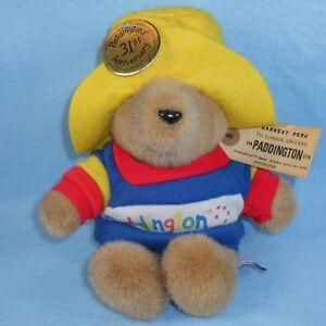 "Paddington Bear Plush Stuffed 31st Anniversary 10"" Darkest Peru 1988 Eden Toys"