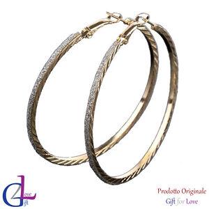 Orecchini donna eleganti oro argento originale G4Love strass regalo fashion 2021