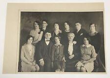 Antique 1928 Italian Family Photograph Giuseppe De Rosa Gaston St West Orange NJ