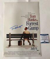 TOM HANKS SIGNED AUTOGRAPHED FORREST GUMP 12X18 PHOTO POSTER BECKETT BAS COA 2