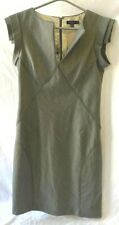 TED BAKER Grey Pleated Shift Dress size 12 (3) - (LOU)