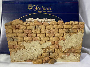 """Fontanini ~ CITY WALL ~ Stone Wall w/ Stucco Patches For 5"""" Nativity #59526 NEW"""