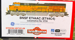 NEW BNSF H3 ET44AC INTERMOUNTAIN NEVER RUN #3733 NON SOUND HO MINT GE 497101-09