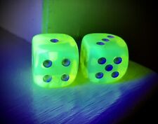 Vintage Fluorescent Yellow Game Dice