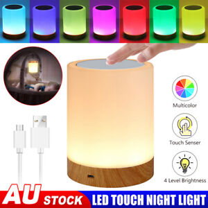 Led Touch Desk Bedside Lamp USB Dimmable Night Light Bedroom Hanging Table Lamp