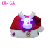 Hot Kids & Adult & LED Christmas Hat Santa Claus Reindeer Snowman Xmas Gift Caps