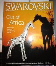 2004 Swarovski Magazine Out Of Africa July August 2004 Giraffe