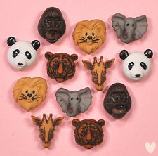 DRESS IT UP Buttons Animal World 3601 Panda Gorilla Giraffe Lion Tiger Elephant