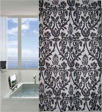 Black White Damask Fabric Shower Curtain New FREE SHIPPING