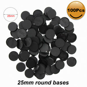 100pcs 25mm Round Plastic Model Bases for Wargames Table Games