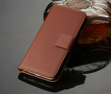 Flip Genuine Leather Wallet Case Cover Holder For Samsung Galaxy Series(Part I)