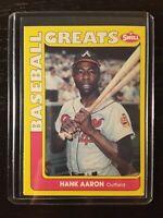 Rare! Hank Aaron 1991 Swell Baseball Greats Card - Milwaukee Braves NM-MT