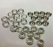 """Lot of 100 Copper Open Ring No Sew Snaps Fasteners Snap Button 3/8"""""""