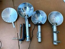3 Used Vtg Large Camera Flash Attachments Heiland Research Minicam Busch Leitz
