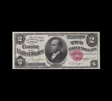 GORGEOUS 1891 $2 SILVER CERTIFICATE WINDOM NOTE EXTRA FINE