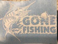 Gone Fishing Decal Vinyl Sticker Fisherman Gift Decor