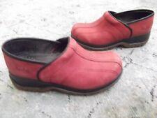 Women's DANSKO SPORT Slip On Clogs Shoes  Blue Nubuck light red Sz. 36 / 6