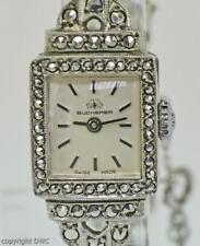 DAU Damenarmbanduhr BUCHERER aus 800er Silber mit Markasiten Ladys watch silver