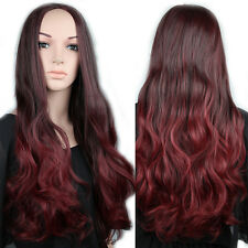 Synthetic Hair Wigs Natural 3/4 Hair Half Wig Long Straight Curly Hair Black Wig