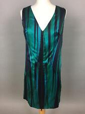 Women's Vintage MILLY OF NEW YORK Sleveless Aqua Coloured V Neck Dress. 10-12