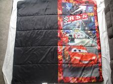 "Disney's Cars kids sleeping bag camping Racing Sports Network 28""x56"" Reversible"