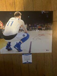 Luka Doncic NBA Dallas Mavericks 11x14 photo Signed Autographed BECKETT clean si