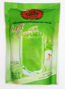 3 in 1 Instant Milk Green Tea Powder Iced Cool & Hot ChaTraMue 100 g