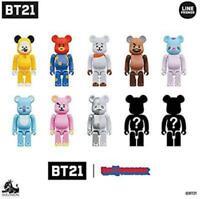 BT21 Bear Brick 10 Pieces Full Set BearBrick BE@RBRICK Medicom Toy Japan Import