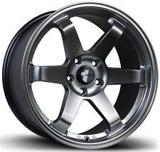 Avid1 AV06 17X8 Rims 5x114.3mm +35 Hyper Black Wheels Fits Civic 240sx Rx8 Rx7