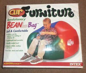 Vintage Air Furniture 90's Bean Beanless Bag Intex NEW NIB holds up to 220 lbs