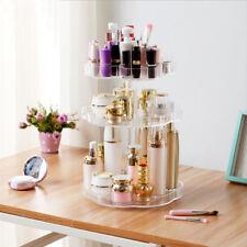 3 Tier Makeup Cosmetic Box Storage 360° Rotating Stand Organizer Large capacity