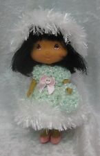 STRAWBERRY SHORTCAKE Doll Clothes #12 Handmade Outfit Crochet Dress, Hat & Purse