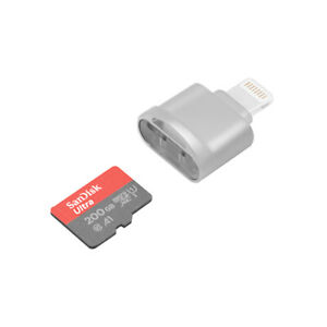 Lightning TF Card Reader for iPhone Camera,Play Video,Photo,File,Data Transfer