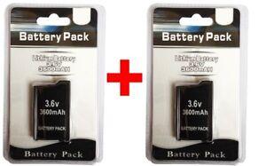 2 x PSP 2000 3000 (SLIM) Replacement Battery Pack 3.6v 3600 mAh