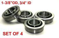 NEW set of 4 Updated Wheel Bearings John Deere AM127304 X520 X360 L110 L120 L115