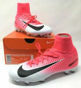 Nike Jr Mercurial Superfly V FG Girls Soccer Cleats Pink Select Size 831943 601