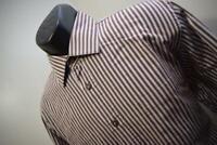 40317 Mens Bugatchi Uomo Designer Striped Button Up Dress Shirt Size Large