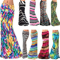 Tie Dye Retro Boho Womens Print High Waist Long Dress Beach Party Maxi Skirts