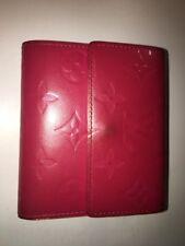 LV Louis Vuitton Monogram Vernis Elise Pink Wallet