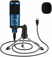 More details for usb pc plug & play professional condenser microphone & stand. youtube skype etc