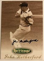 1995 FUTERA HERITAGE CRICKET COLLECTION CARD N0 25/60 SIGNED JOHN RUTHERFORD