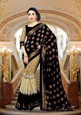 INDIAN WOMEN ETHNIC WEDDING DESIGNER SAREE TRADITIONAL PARTY WEAR BOLLYWOOD SARI