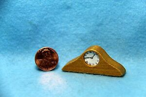 Dollhouse Miniature Basic Wood Mantle or Table Top Clock  IM65418